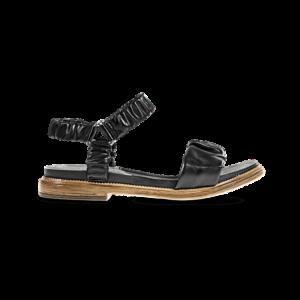 Sandalia negra eco piel 1