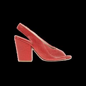 Sandalia tacón roja 1